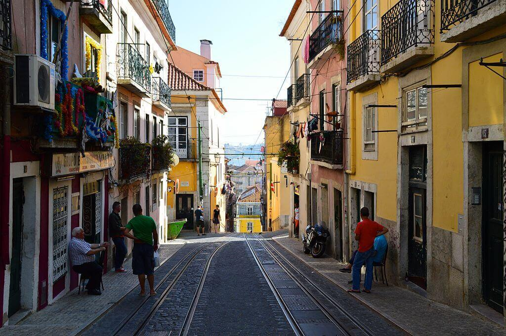De Bairro Alto in Lissabon