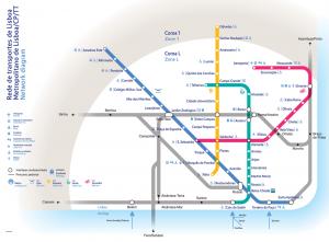 Metrolijnen in Lissabon