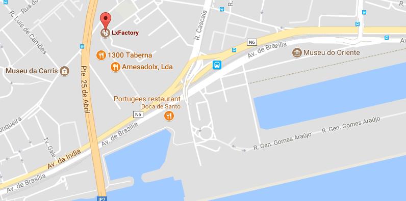 Waar vind je de LX Factory Lissabon?