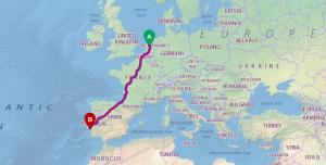 Met de auto naar Lissabon