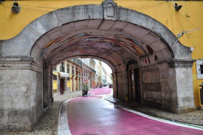 Pink street Lissabon