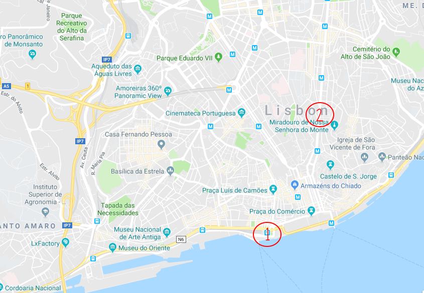 Onveilige wijken in Lissabon